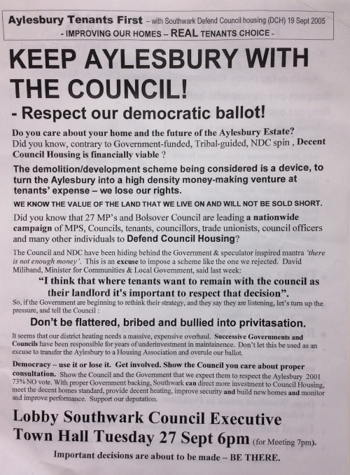 aylesbury campaign leaflet keep with council