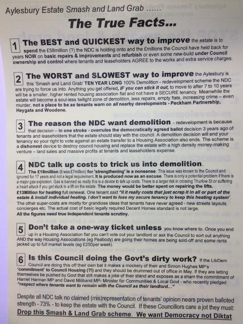 aylesbury campaign leaflet smash grab back