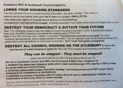 aylesbury ndc leaflet campaign