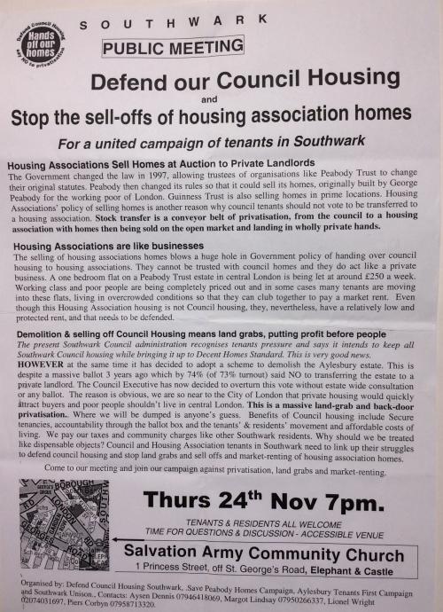 southwark dch leaflet front