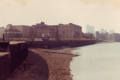 Rotherhithe Thames 1980 View