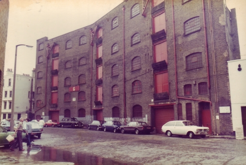 Rotherhithe Warehouse View 1980