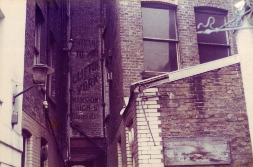SOHO Back Alley Ghost SIgn 1980