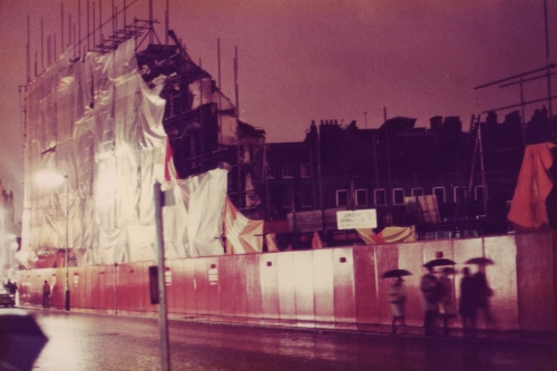 SOHO Charing Cross Rd Demolition Hoardings 1980